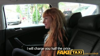 Preview 3 of FakeTaxi Sexy redhead takes a pounding from behind