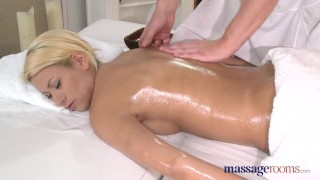 Preview 1 of Massage Rooms Blonde with plump bum enjoys big fat cock in 69 position