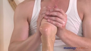 Preview 5 of Massage Rooms Blonde with plump bum enjoys big fat cock in 69 position