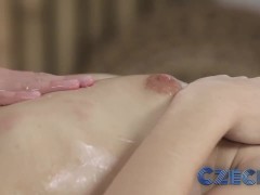 Czech Beautiful young girls give each other G-spot orgasms