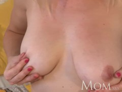 MOM Housewife Sherry likes to finger her pussy when she has time to herself