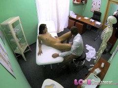 Love Creampie Doctor slides his cock into student's warm hole and shoots