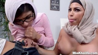 Mia Khalifa stepmom Juliana Vega fucks and sucks her boyfriends cock  big ass big-cock big-tits arabic mom blowjob milf reverse-cowgirl 3some muslim babes mother threesome step-mom hijab religious