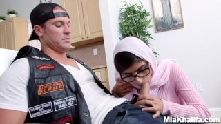 Mia Khalifa stepmom Juliana Vega fucks and sucks her boyfriends cock hijab religious 3some muslim babes milf mom blowjob big ass big-cock mother threesome big-tits arabic reverse-cowgirl step-mom