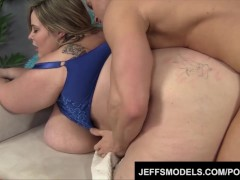 Huge boobed Mandy Majestic takes dick