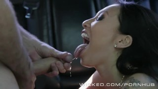 Wicked - Backseat anal with Asa Akira  car sex ass fuck ass fucking raven babe wickedpictures asian tattoo skinny big dick pounded kink japanese car gape heels fingering anal wicked leather