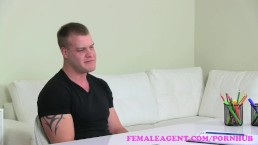FemaleAgent. Horny stud makes his intentions clear to sexy MILF