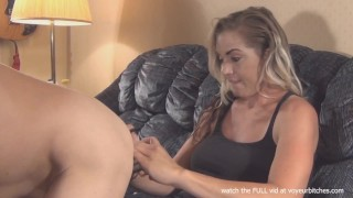 CFNM - wife takes pictures of nude male dildo close up femdom kink blonde amateur cfnm watching wanking cumshot voyeur voyeurbitches flashing fetish masturbating