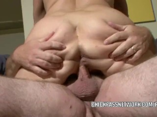 Busty MILF Claudine rides a cock and gets a big facial