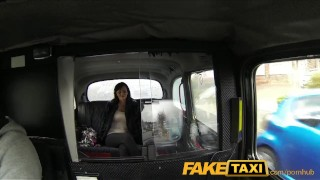 Preview 2 of FakeTaxi Big tits babe gives cabbie a blowjob