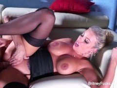 Britney Amber sucks cock and gets fucked hard