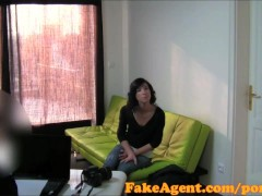 Movie:FakeAgent Sexy shy brunette be...