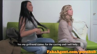 FakeAgent Two smoking hot amateurs fucked hard in Casting interview  point of view homemade audition amateur blonde cumshot pov casting couch real reality fakeagent 3some interview oral sex office sex
