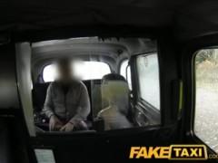 Big Tit Babe Gives A Cabbie A Blowjob