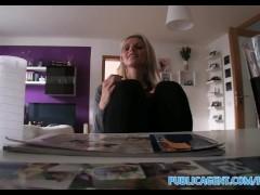 PublicAgent Sexy blonde tutor fucks her student