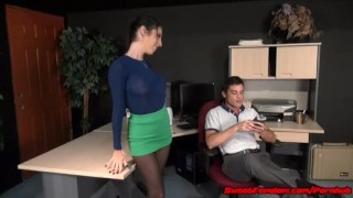 Office Fantasy with Dava Foxx FAKE TITS SLUT FUCKED hardcore sex pantyhose kink big tits blowjob fucking big boobs hypno leotard fetish fake tits sweetfemdom