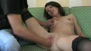 Petite amateur babe fisted till she orgasms