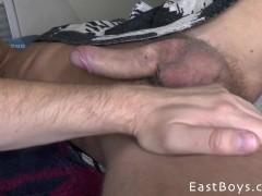 Public Handjob and Cum Eating-Part2