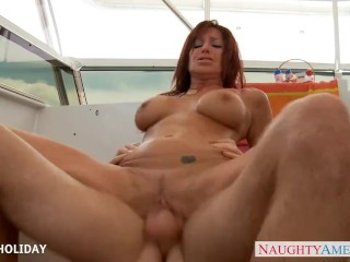 Sensuous Tara Holiday take cock outdoors