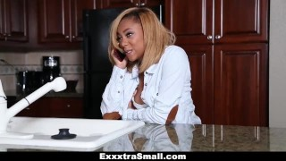 ExxxtraSmall - Tiny Diamond Monrow Learns To Fuck From A Pro
