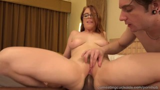 Penny Pax And Her Husband Share A Big Black Cock  cuckold cleanup reverse cowgirl cuckold blonde blowjob cumshot bisexual cumeatingcuckolds interracial brunette petite 3some threesome facial glasses handjob masturbation cock sharing