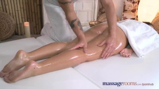 Preview 3 of Massage Rooms Teen with plump round bum gets a good hard fucking