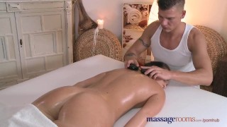 Preview 5 of Massage Rooms Teen with plump round bum gets a good hard fucking
