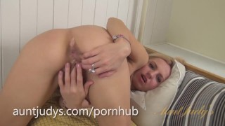 Horny Little Vera Gets Naughty and Masturbates  mother mature old auntjudys masturbate mom