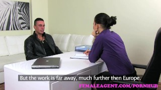 Preview 1 of FemaleAgent. MILF gets her pussy fucked hard as stud secures a job
