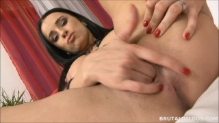 Busty brunette vixen fucking her pussy with a big brutal dildo in HD  big dildo big tits tits masturbation masturbating masturbate busty brunette big boobs huge dildo dildo fucking giant dildo adult toys brutaldildos brutal dildo