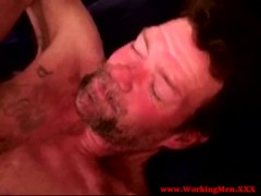 Dirty blue collar redneck in bareback fuck
