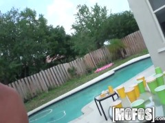 Mofos – Hot teen orgy in the back yard
