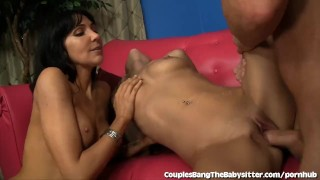 Cute Babysitter Shared By Married Couple