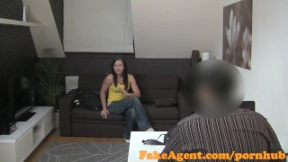 FakeAgent Hot brunette not happy about surprise Creampie in Office  office sex homemade oral-sex point-of-view audition big-ass amateur cumshot pov casting couch real reality fakeagent shaved interview