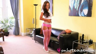 Stacey Poole pink stockings