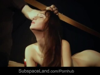 XXX porn - estel-two: Restrained slave hot waxed and than rubbed with a spiny brush in bondage