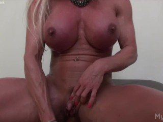 Ashlee Chambers Her Big Clit and a Dildo