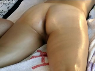 Oily massage ends in creampie