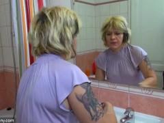 Tenn brunette girl with blonde stepmom OldNanny