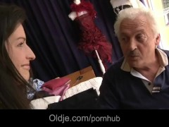 Flaccid grandpa gets sexual apology from Ann Marie