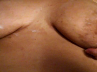 Tits and lotion