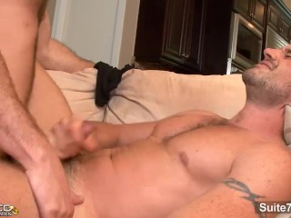 Sexy married guy David Chase gets arse licked and pounded by handsome gay