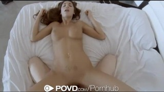 HD - POVD Tall babe August Ames fucks her boyfriend