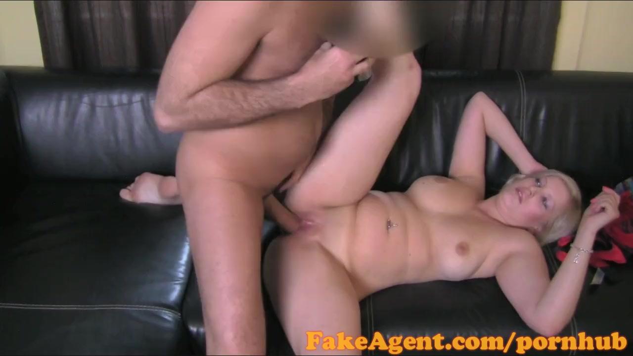 FakeAgent Busty blonde