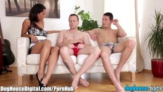 DogHouse Bi-Sex Anal Cuckold  bi curious bi sexual riding cuckold oral doghousedigital euro blowjob bi bisexual cock sucking brunette mmf anal pussy licking bi sex