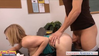 Preview 4 of Blondie in glasses Penny Pax gets fucked in the office