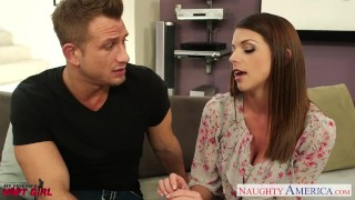 Preview 2 of Busty Brooklyn Chase gets nailed and facialized