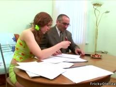 Tricky Old Teacher – Naughty hot schoolgirl