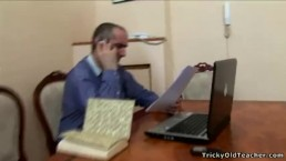 Tricky Old Teacher - Old teacher does it with an innocent blonde