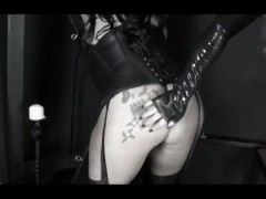 Latex Mistress Sookie Punishes fat woman slave, anal, toys, bdsm
